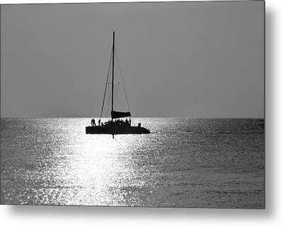 Sundown Sail Metal Print