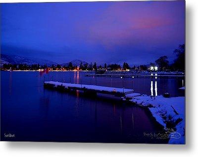 Sundown - The Blue Hour At Skaha Lake Metal Print