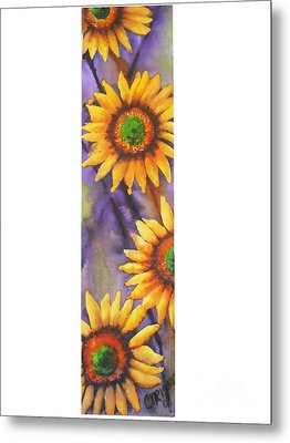 Metal Print featuring the painting Sunflower Abstract  by Chrisann Ellis