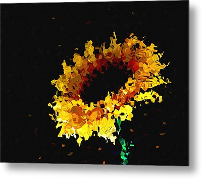 Sunflower Metal Print by Ann Powell