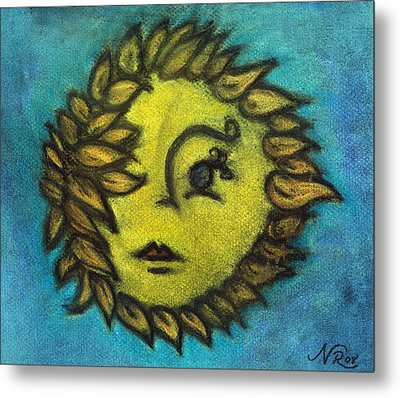 Sunflower Child Metal Print by Natalie Roberts