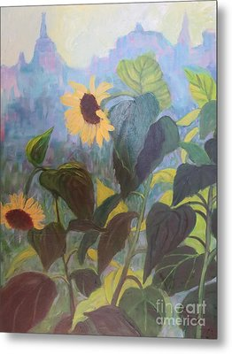 Sunflower City 1 Metal Print