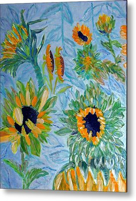 Sunflower Cycle Of Life 1 Metal Print by Vicky Tarcau