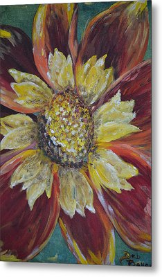Metal Print featuring the painting Sunflower by Debbie Baker