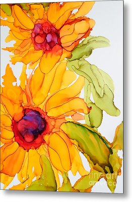 Sunflower Duo Metal Print by Vicki  Housel