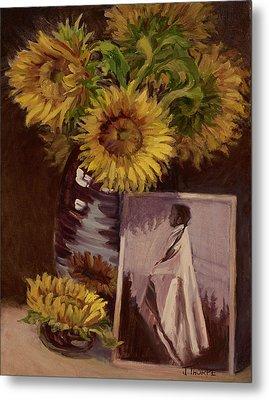 Sunflower Metal Print by Jane Thorpe