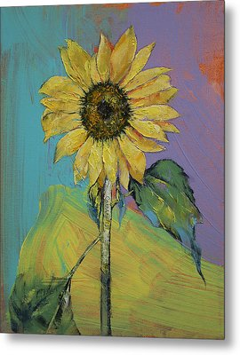 Sunflower Metal Print by Michael Creese