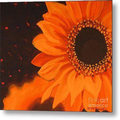 Metal Print featuring the painting Sunflower Mystique by Janet McDonald