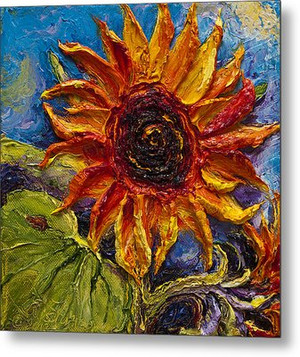 Sunflower Metal Print by Paris Wyatt Llanso