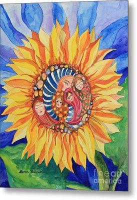 Sunflower Seeds Of Hope Metal Print by Shirin Shahram Badie
