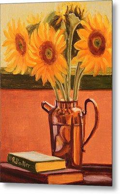 Sunflower Still Life Metal Print