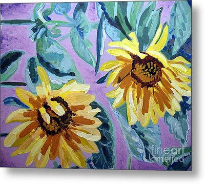 Sunflower Metal Print by Vicky Tarcau