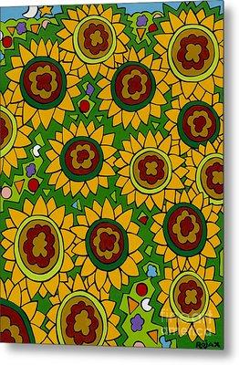 Sunflowers 2 Metal Print by Rojax Art