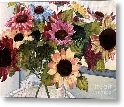 Sunflowers Metal Print by Barbara Jewell