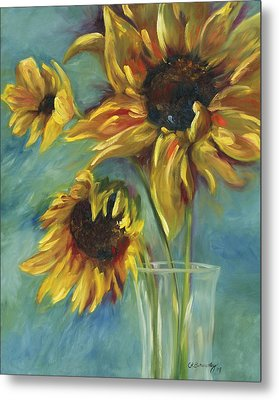 Sunflowers Metal Print by Chris Brandley