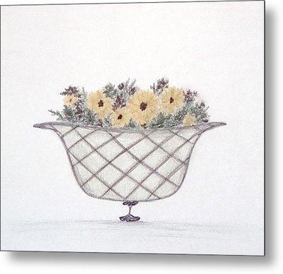 Sunflowers Metal Print by Christine Corretti
