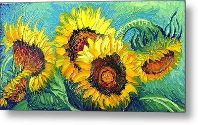Sunflowers Metal Print by Isabelle Gervais