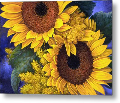 Sunflowers Metal Print by Mia Tavonatti