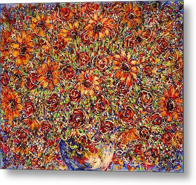 Sunflowers  Metal Print by Natalie Holland