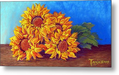 Sunflowers Of Fall Metal Print