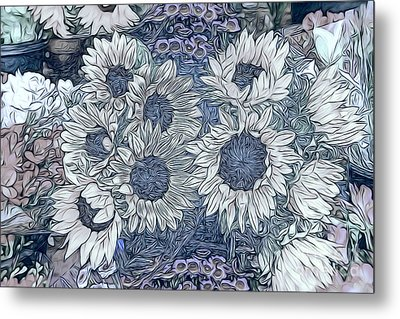 Sunflowers Paris Metal Print by Jack Torcello