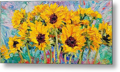 Sunflowers Metal Print by Steven Boone