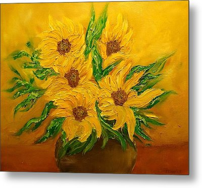 Sunflowers Metal Print by Svetla Dimitrova