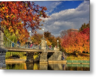 Sunkissed Lagoon Bridge Metal Print by Joann Vitali