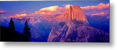 Sunlight Falling On A Mountain, Half Metal Print