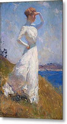 Sunlight Frank Weston Benson 1909 Metal Print by Movie Poster Prints
