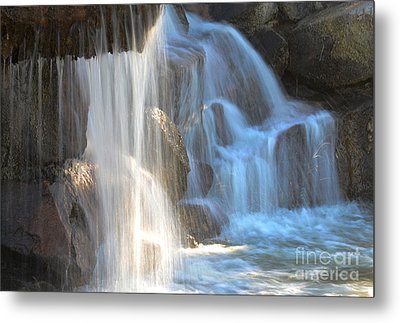 Sunlight On The Falls Metal Print by Deb Halloran