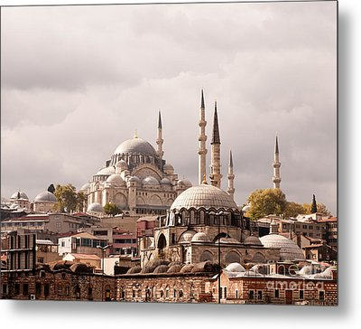 Sunlit Domes Metal Print by Rick Piper Photography