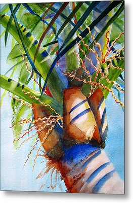 Sunlit Palm Metal Print