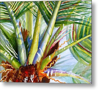 Sunlit Palm Fronds Metal Print by Carlin Blahnik