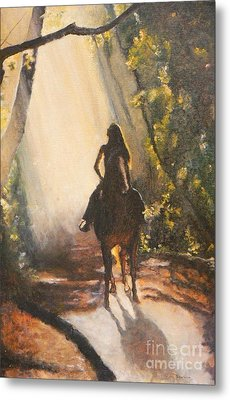 Sunlit Path Metal Print by Diana Besser