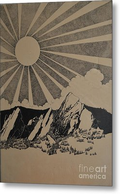 Metal Print featuring the drawing Sunny 300 Days A Year by Stuart Engel