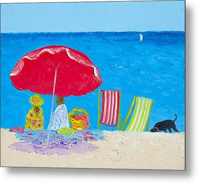 Sunny Afternoon At The Beach Metal Print by Jan Matson