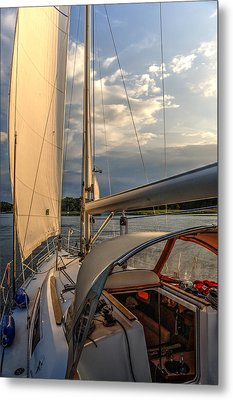 Sunny Afternoon Inland Sailing In Poland 2 Metal Print