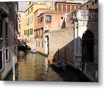 Venice Sunny Afternoon Metal Print by Walter Fahmy