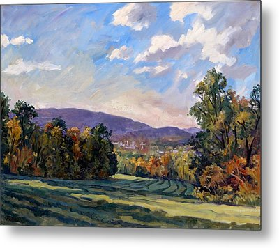 Sunny Autumn Berkshires Metal Print by Thor Wickstrom