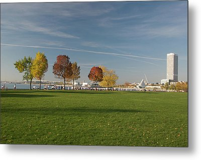 Metal Print featuring the photograph Sunny Autumn Day by Jonah  Anderson