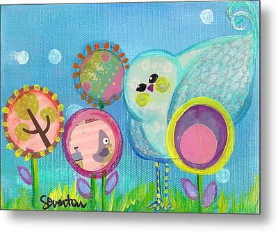 Sunny Birdy And The Dandies Metal Print by Shelley Overton