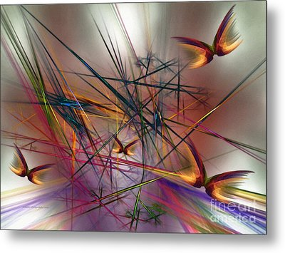 Sunny Day-abstract Art Metal Print by Karin Kuhlmann