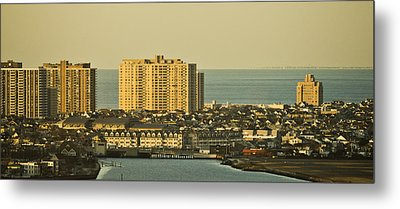 Sunny Day In Atlantic City Metal Print by Trish Tritz