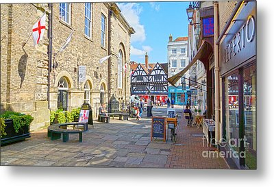 Sunny Day In Salisbury Metal Print by Andrew Middleton