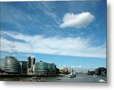 Sunny Day London Metal Print by Jonah  Anderson