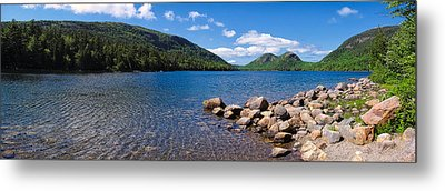 Metal Print featuring the photograph Sunny Day On Jordan Pond   by Lars Lentz