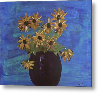 Sunny Day Sunflowers Metal Print by Tatum Chestnut