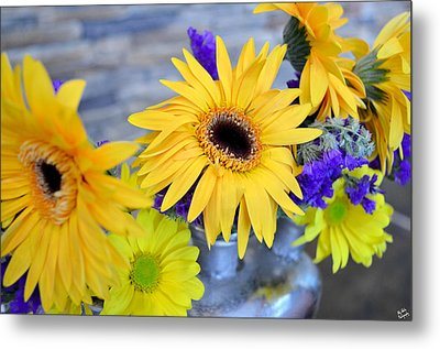 Metal Print featuring the photograph Sunny Days by Ally  White