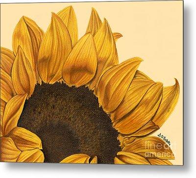 Sunny Flower Metal Print by Sarah Batalka